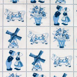 Delfts blauw patroon